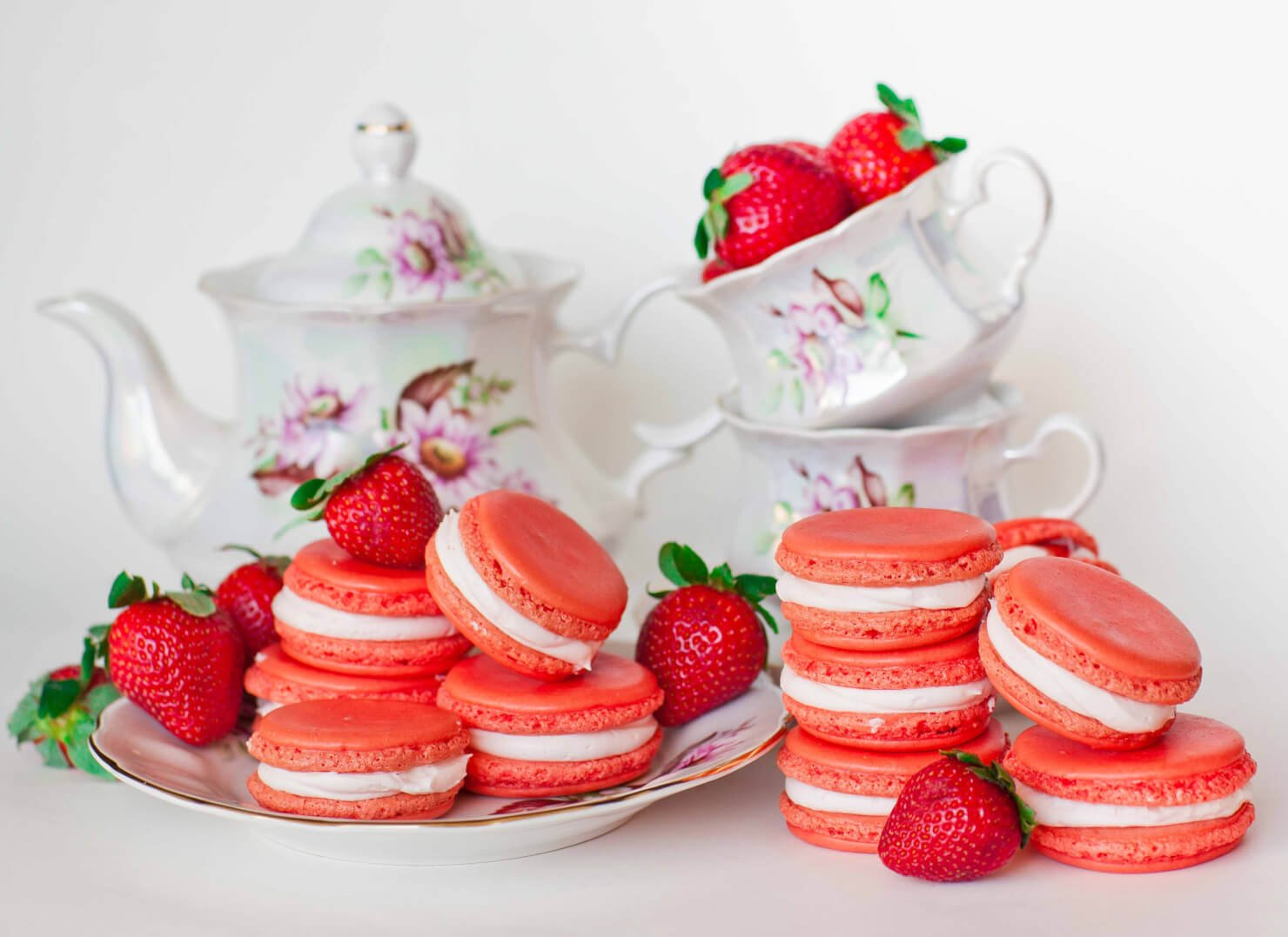 Triple Strawberry Macarons - Tatyanas Everyday Food