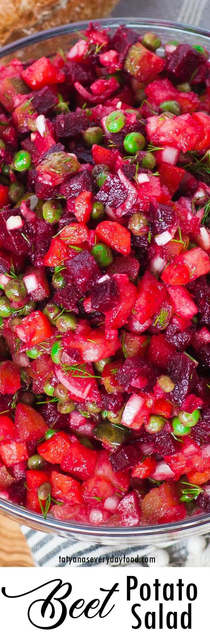 Beet Potato Salad video recipe