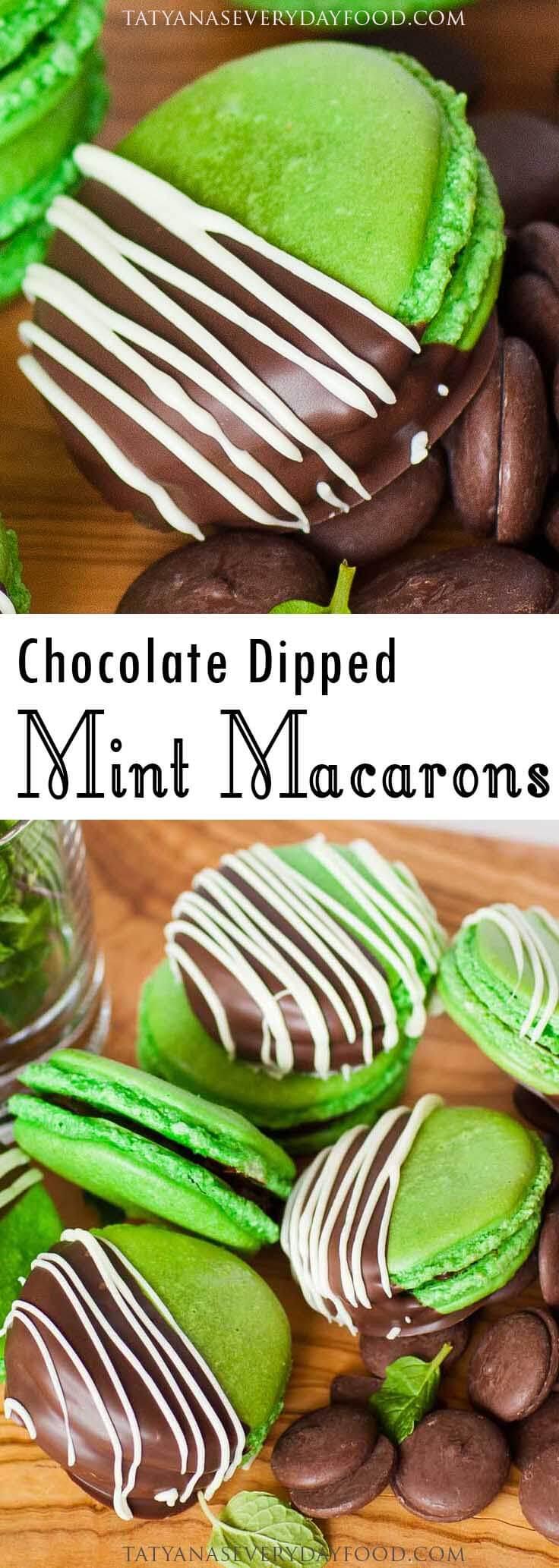 Chocolate Mint Macarons video recipe