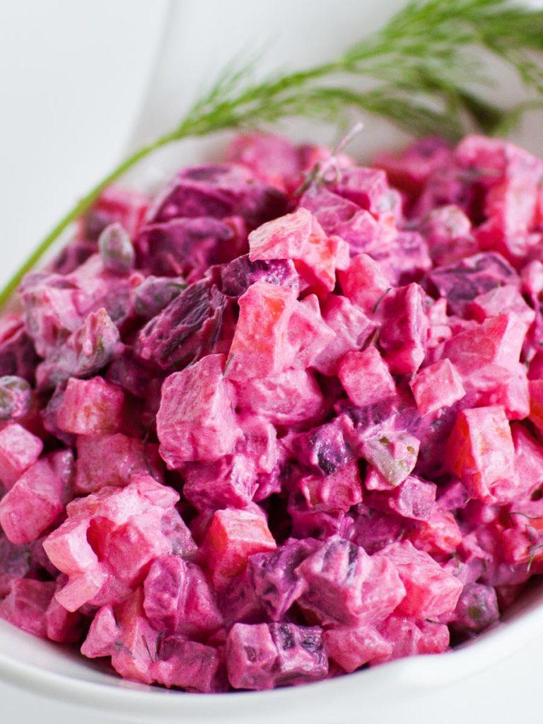 creamy beet salad recipe, Eastern European recipe