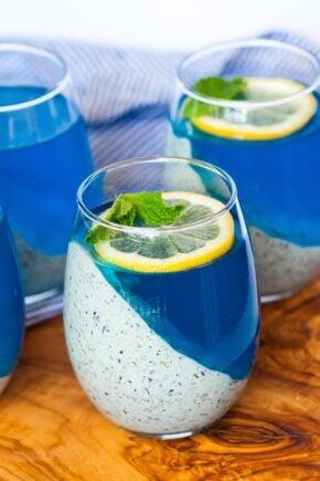 blueberry lemon mousse jello cups