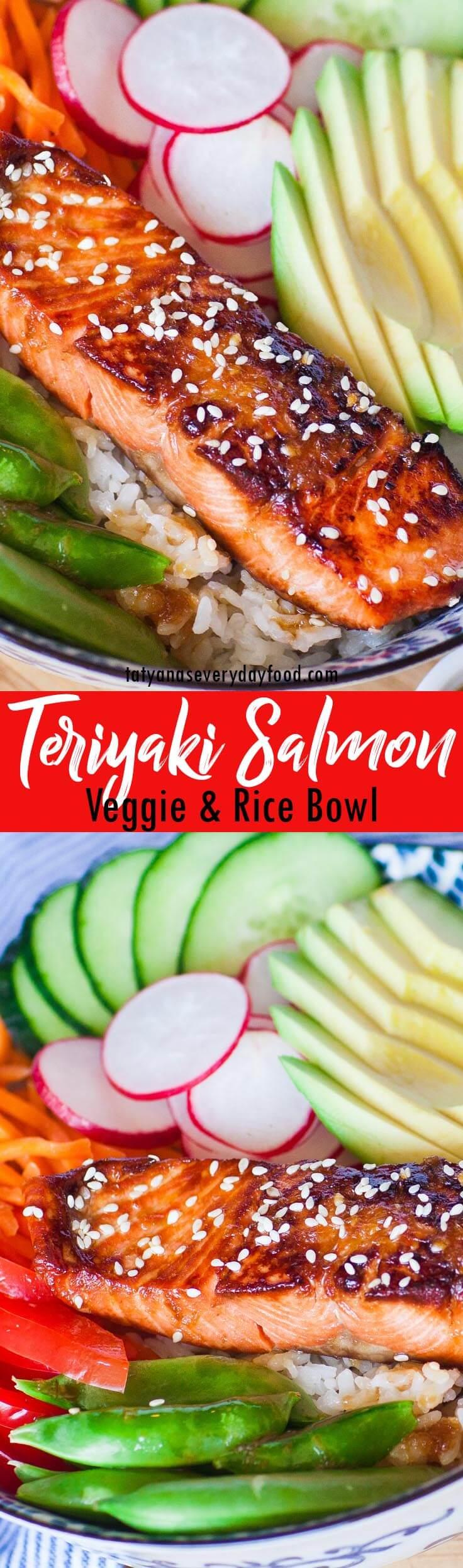 Easy Teriyaki Salmon Bowl video recipe