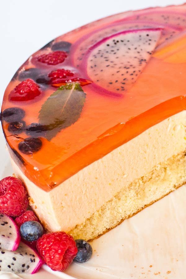 sliced mousse cake mango cake