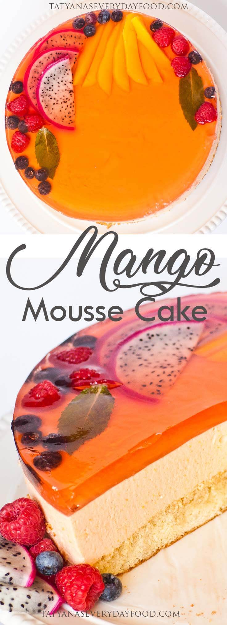 Mango Mousse Cake Recipe with video