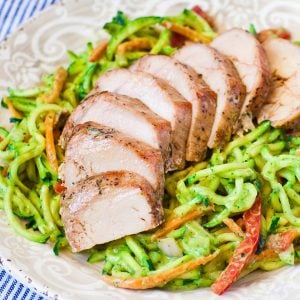 zucchini noodles with pork