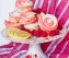 Raspberry Swirl Meringue Cookies