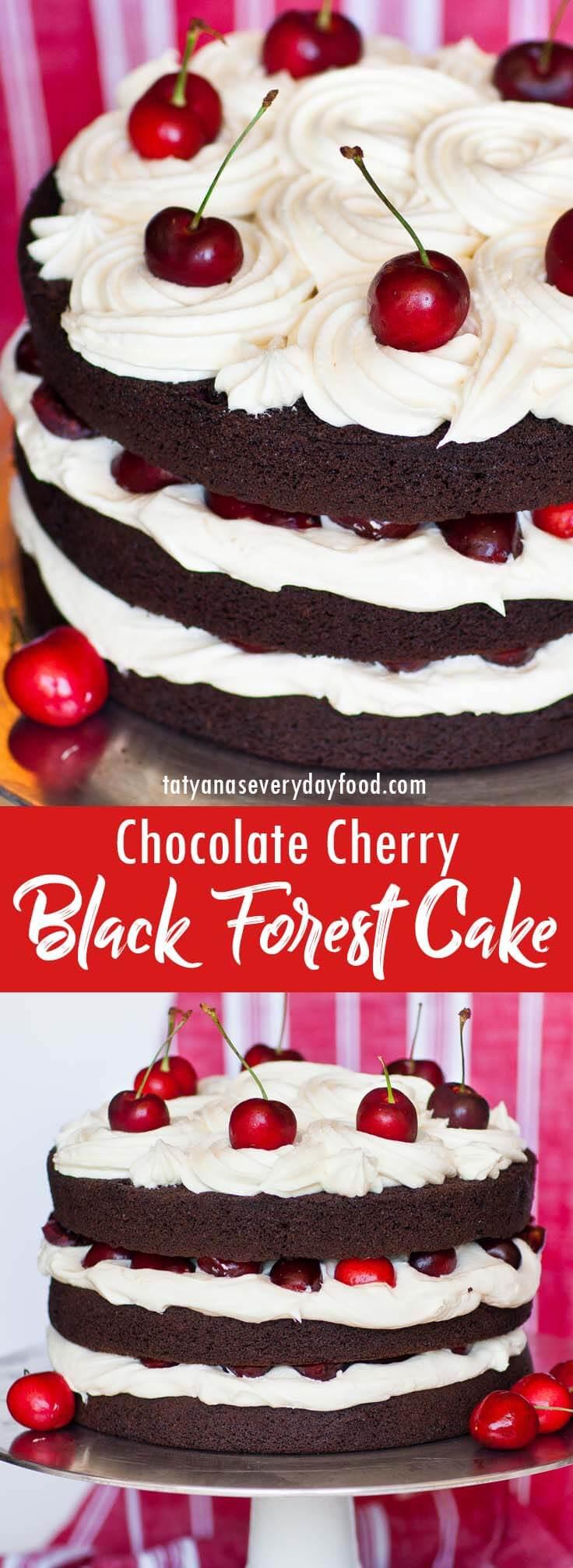 Black Forest Chocolate Cherry Cake video recipe