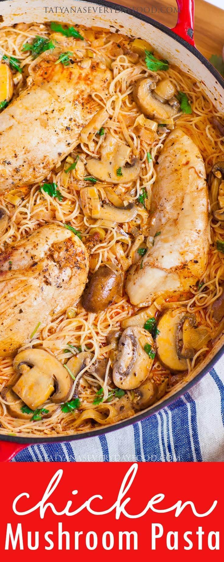 Chicken Mushroom Pasta video recipe