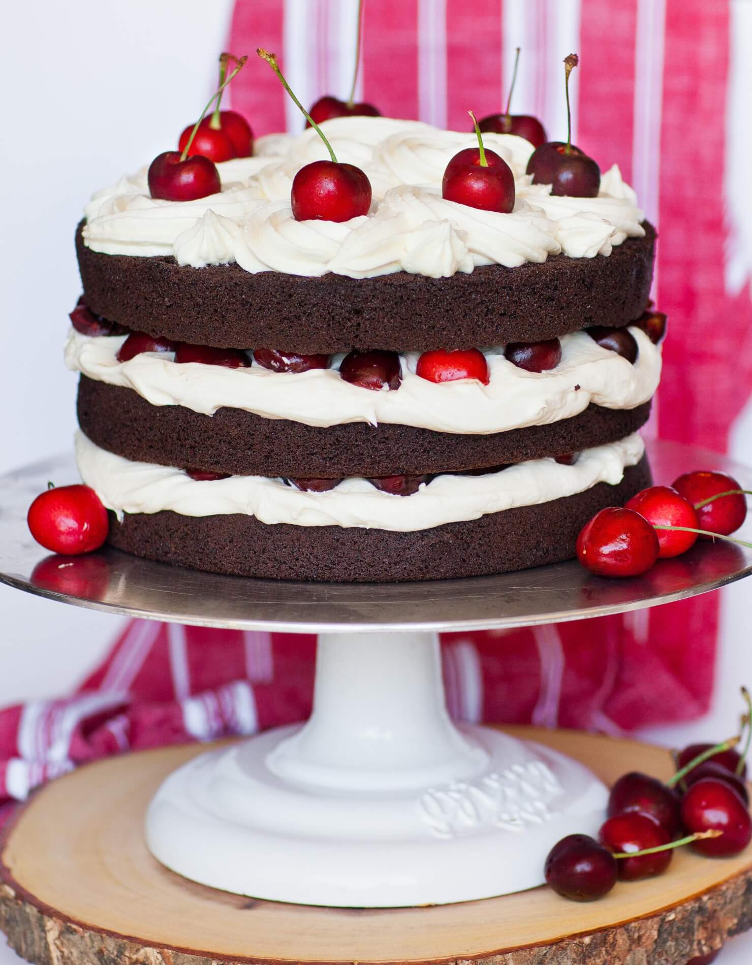Chocolate Cherry Cake - Black Forest Cake