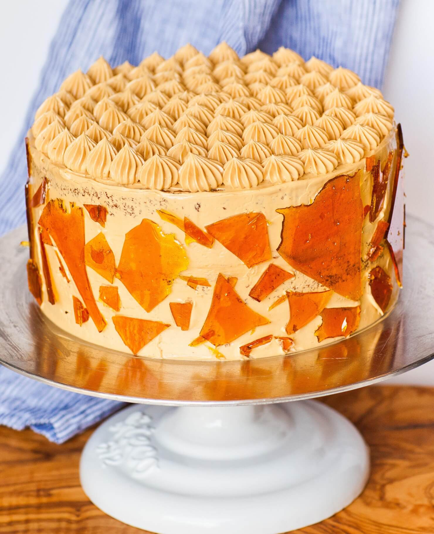 decorated dulce de leche cake