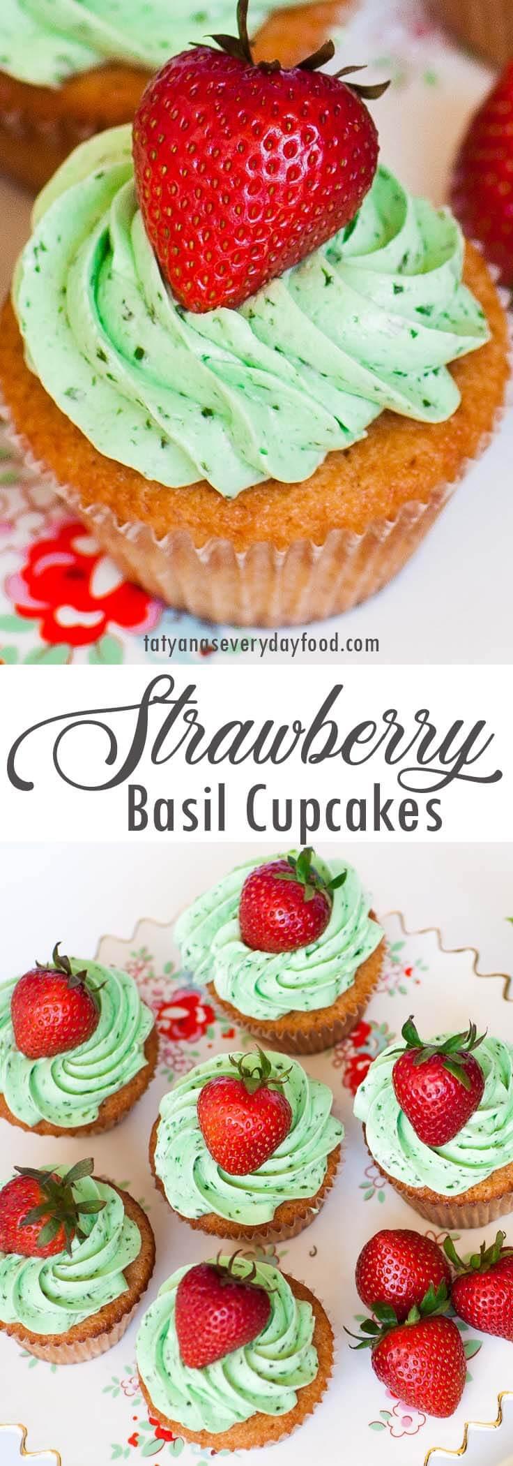 Strawberry Basil Cupcakes video recipe