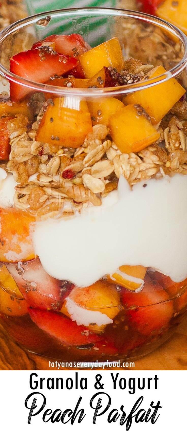 Granola & Peach Yogurt Parfait video recipe
