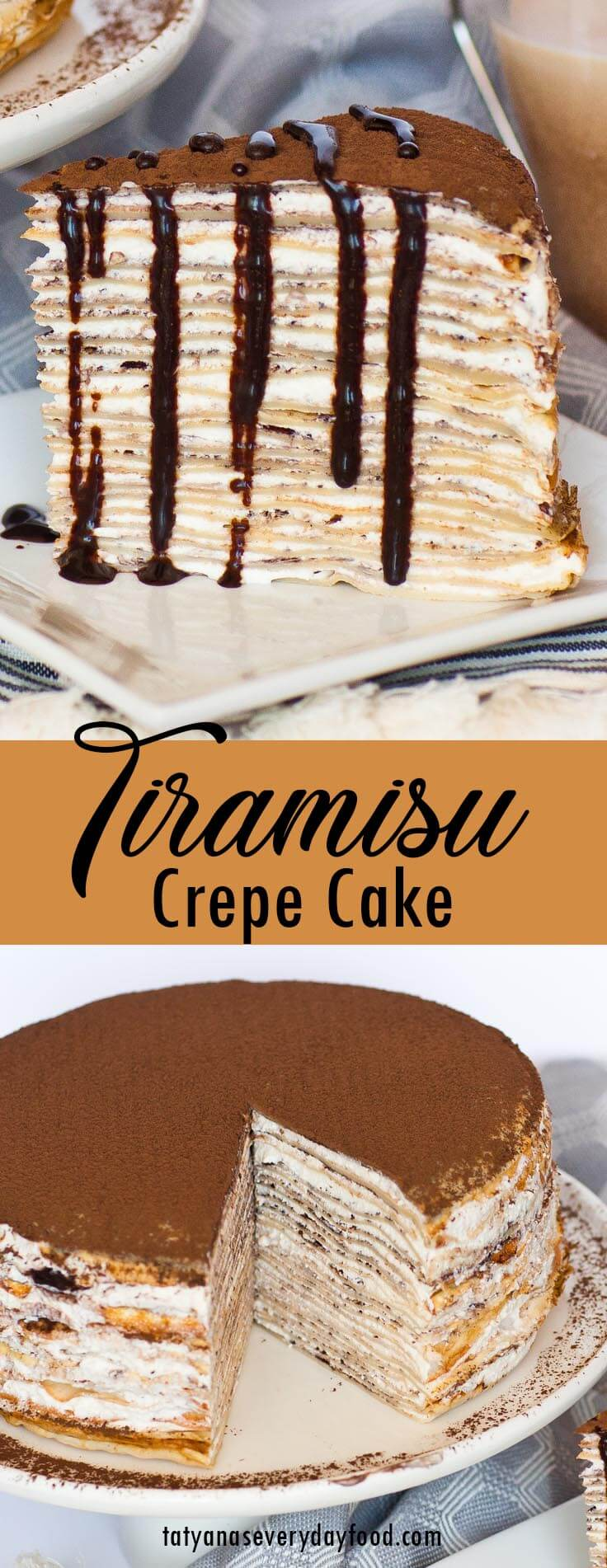 Tiramisu Crepe Cake video recipe