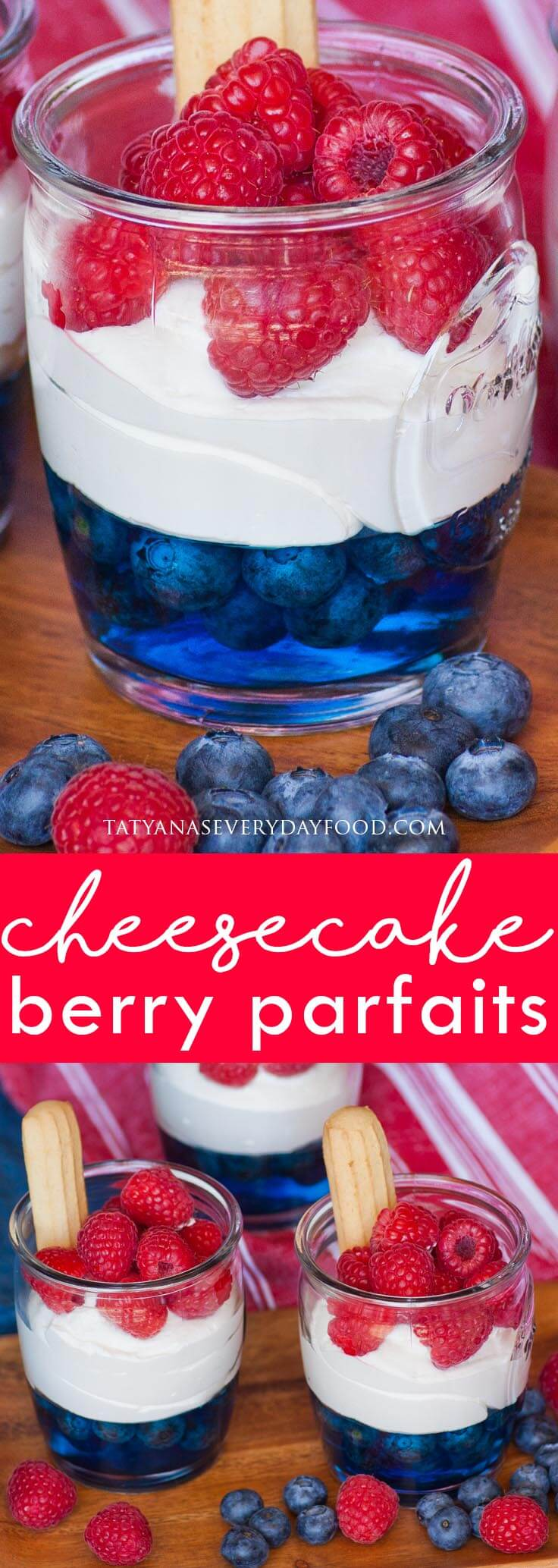 Blueberry Raspberry Cheesecake Parfait