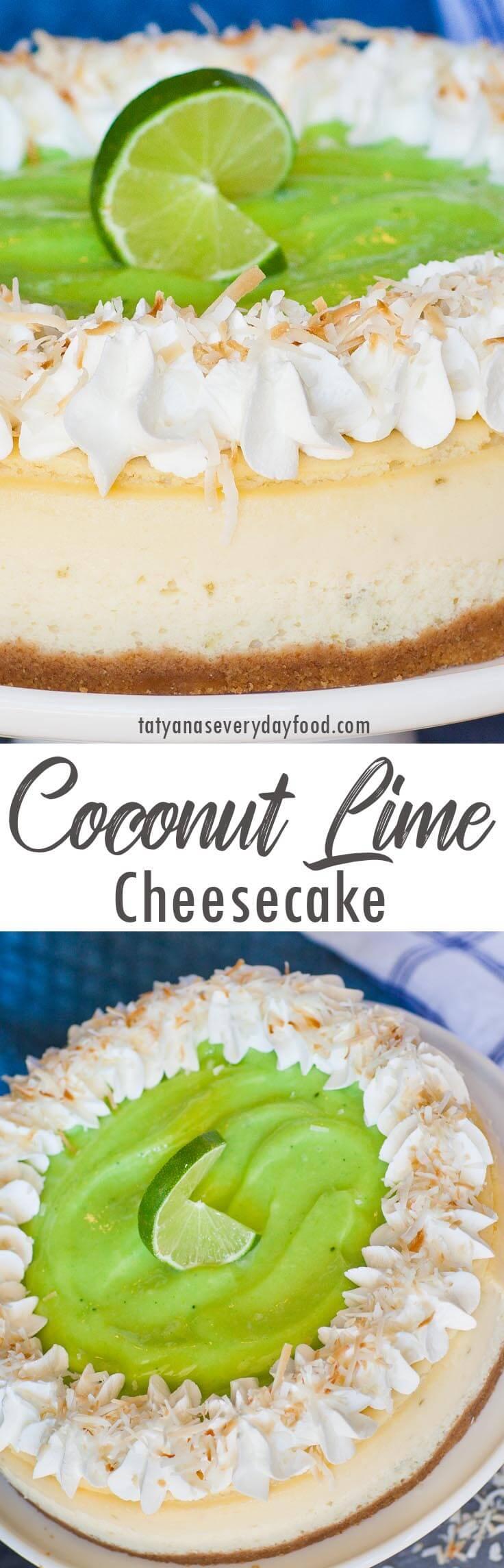 Coconut Lime Cheesecake video recipe