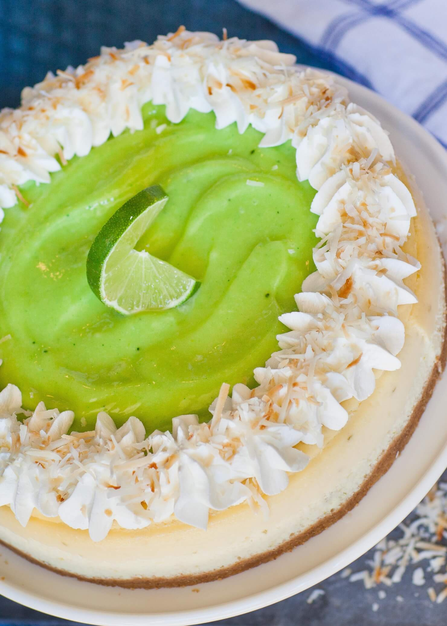 coconut cheesecake with lime curd