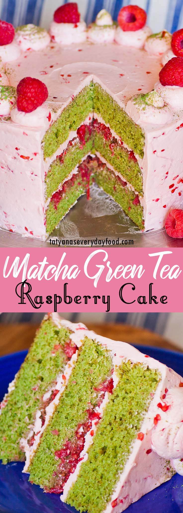 Match Green Tea Raspberry Cake video recipe
