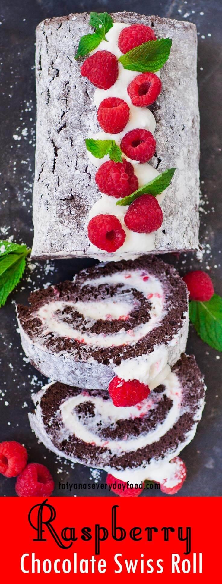 Chocolate Raspberry Swiss Roll video recipe