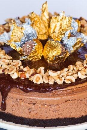 ferrero rocher chocolate hazelnut cheesecake