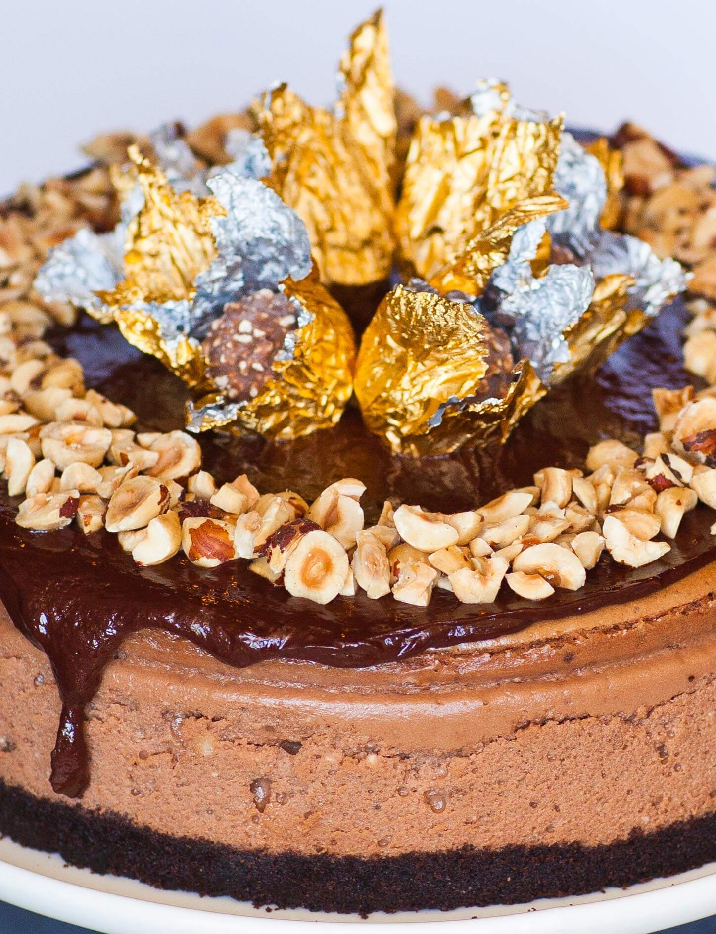 Chocolate Ferrero Rocher Cake Nutella Ganache Recipe