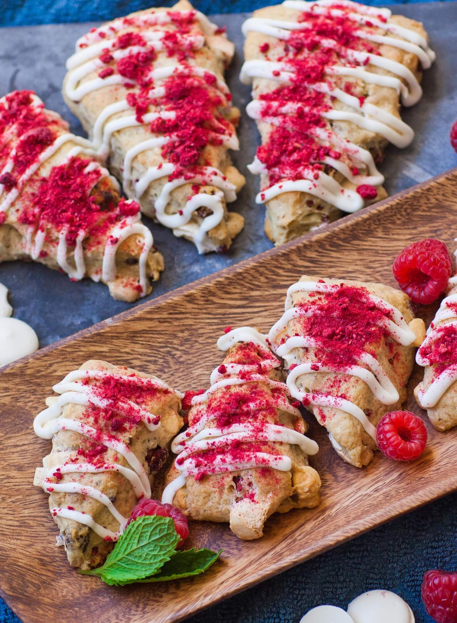 white chocolate raspberry scones