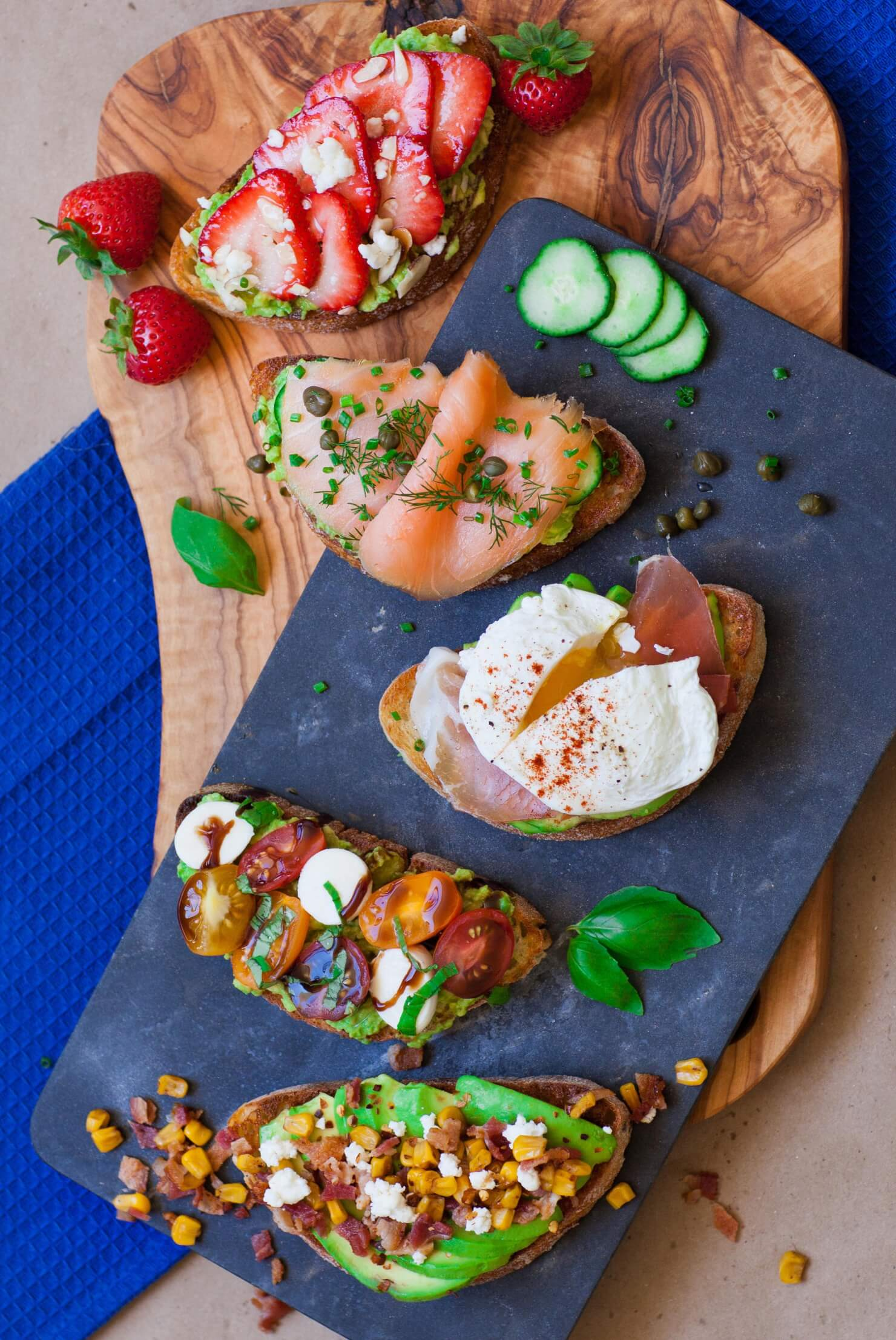 avocado toast 5 different ways