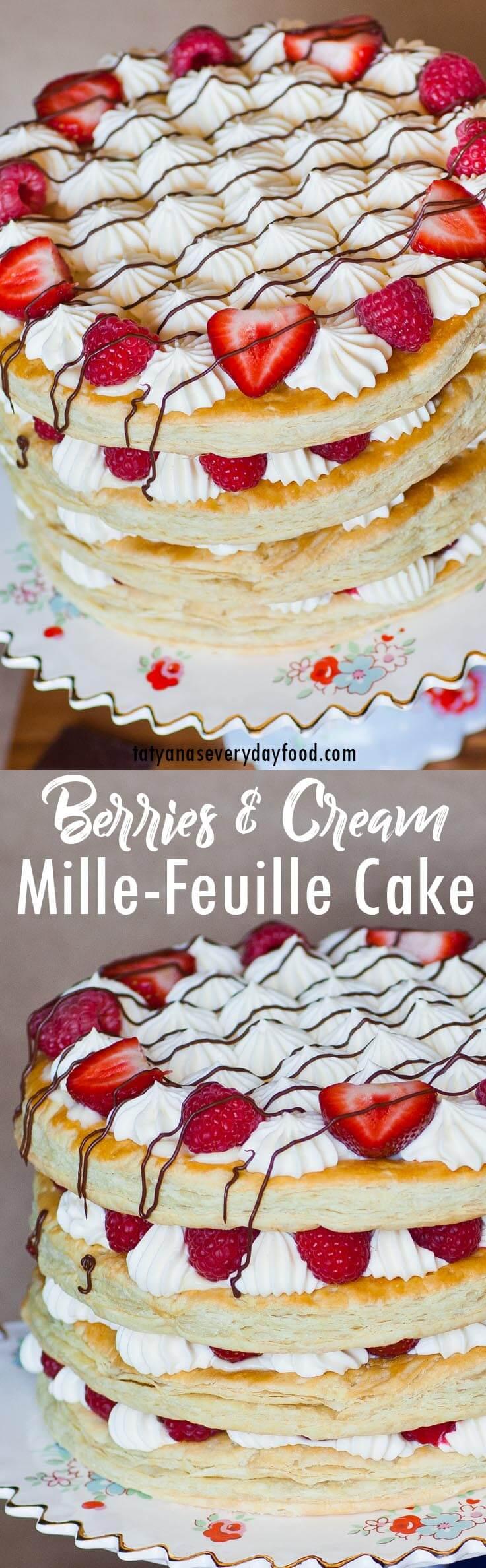 Berries & Cream Mille-Feuille video recipe
