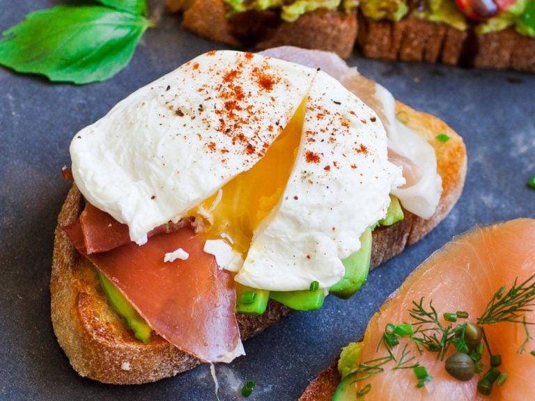 Poached Egg & Prosciutto avocado toast