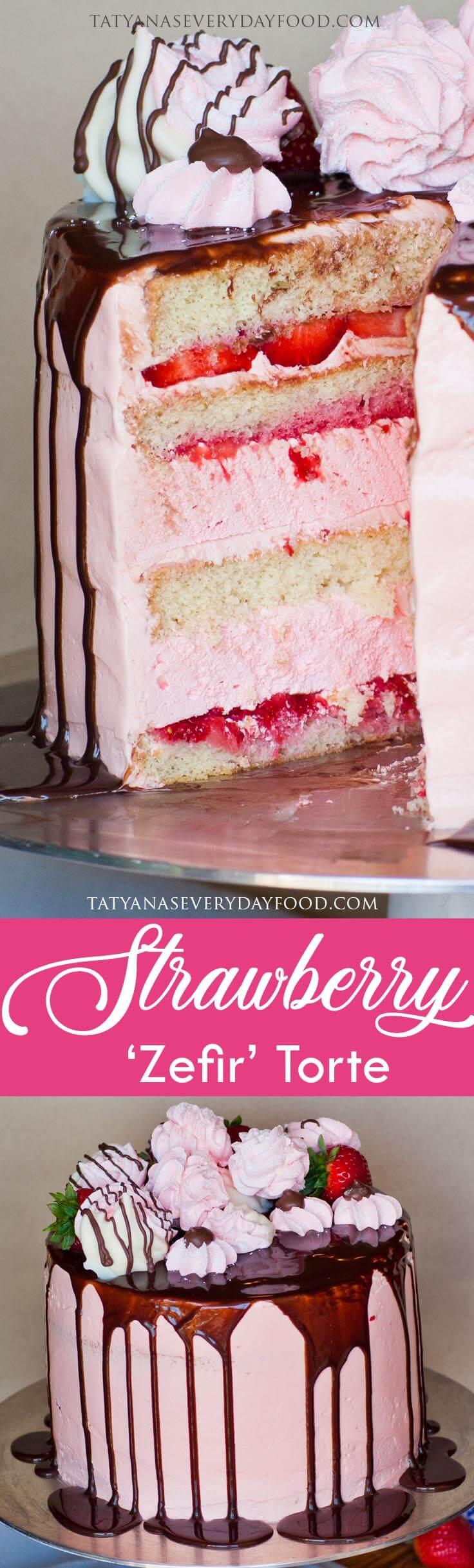Strawberry Zefir Torte video recipe