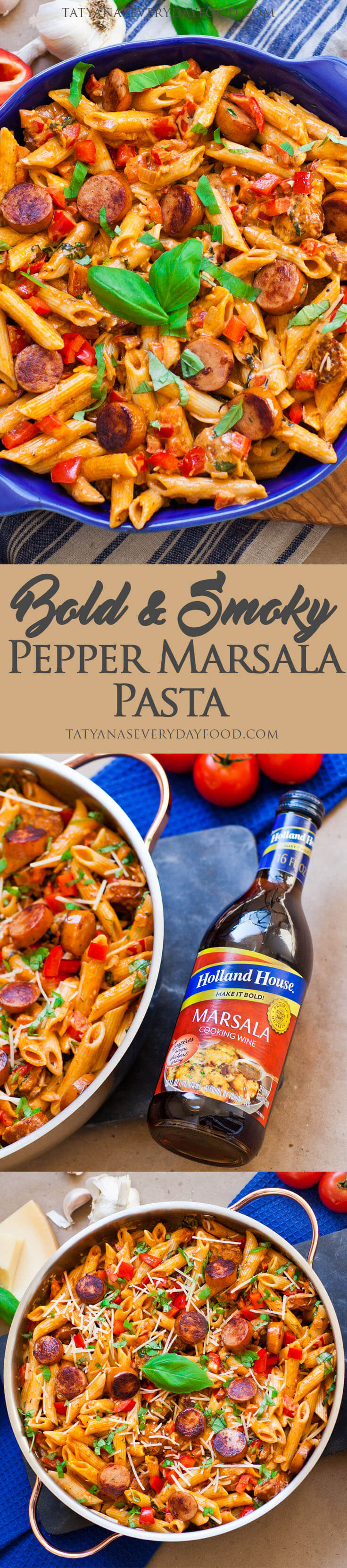 Bold smoky pepper marsala pasta tatyanas everyday food ive been using holland house cooking wines since i started cooking my mom always had this cooking wine in her pantry and now i love forumfinder Images
