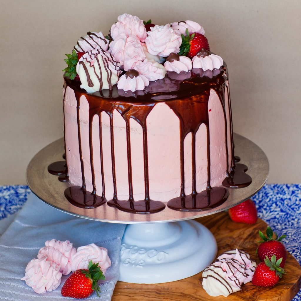 Strawberry Marshmallow Cake Zefir Cake Tatyanas
