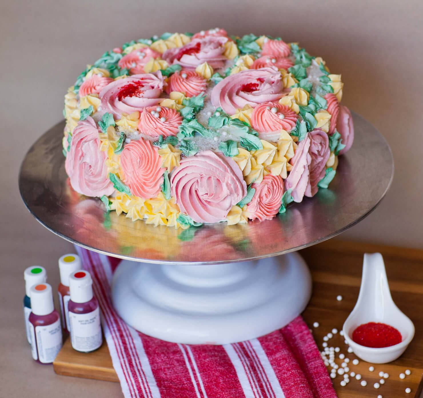 Meringue Buttercream Recipe Flower Garden Decorating