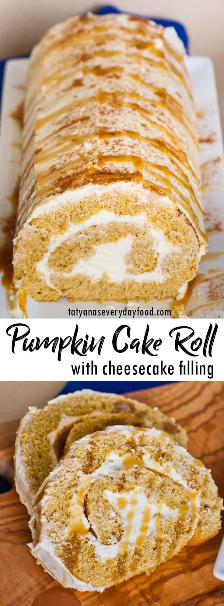 Cheesecake Pumpkin Cake Roll video recipe