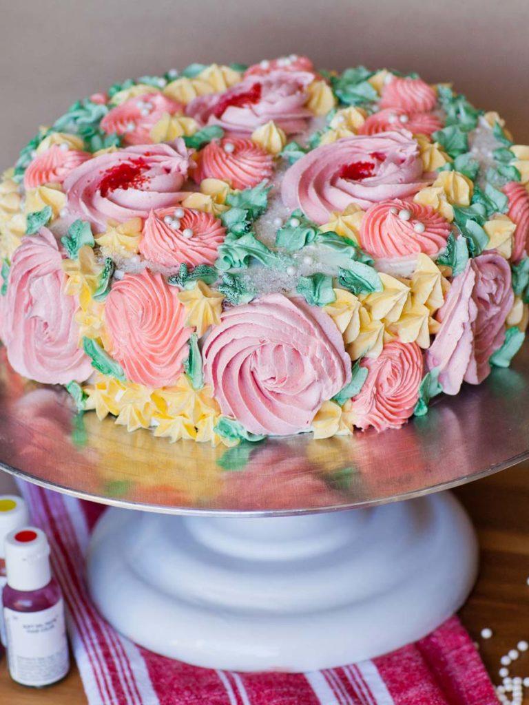 Flower Garden Cake decorating tutorial
