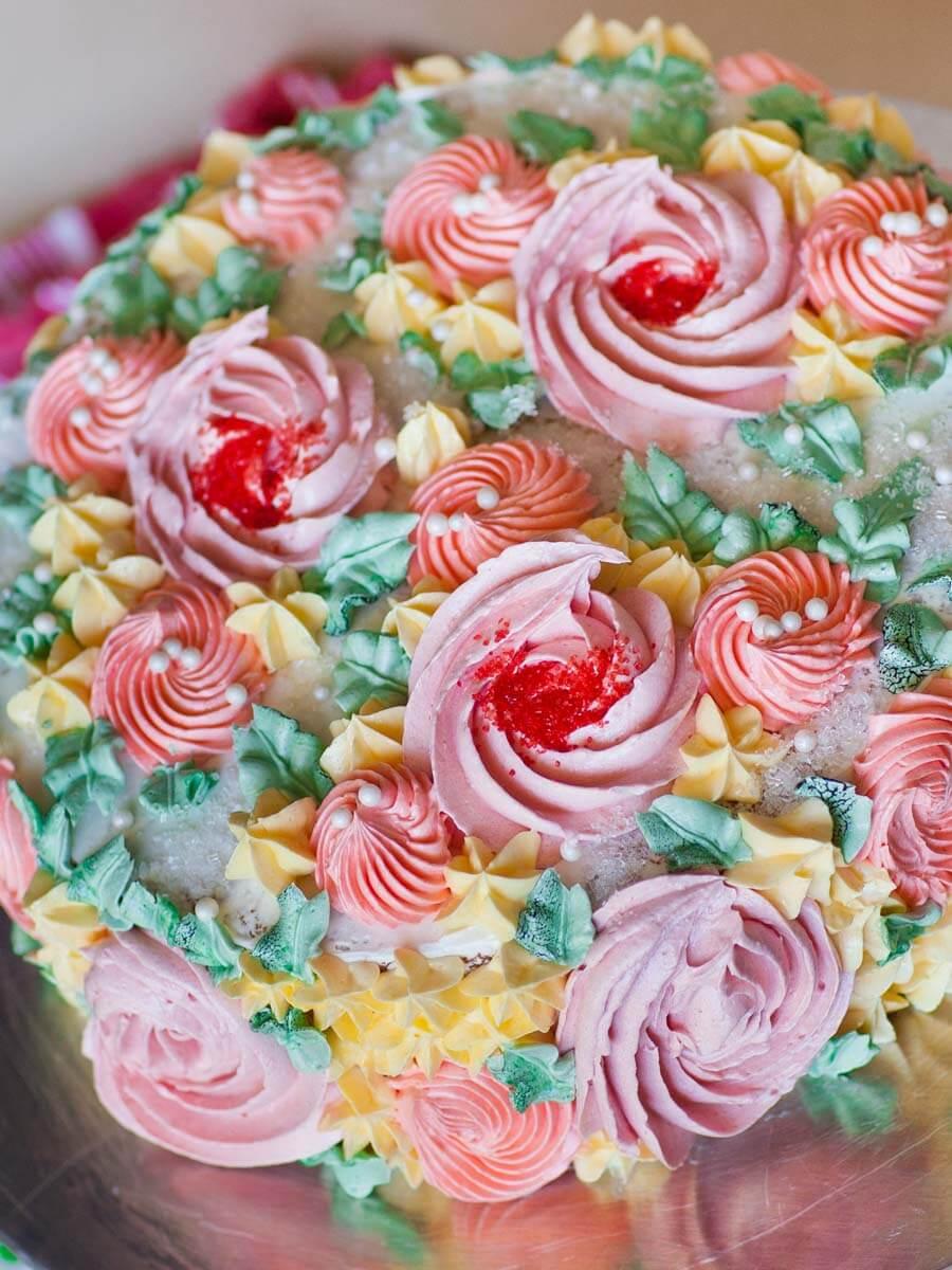 Flower Garden Cake Decorating Tutorial (video) - Tatyanas ...