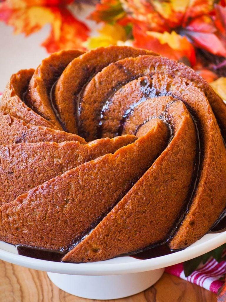 pumpkin bundt cake recipe; fall dessert recipe
