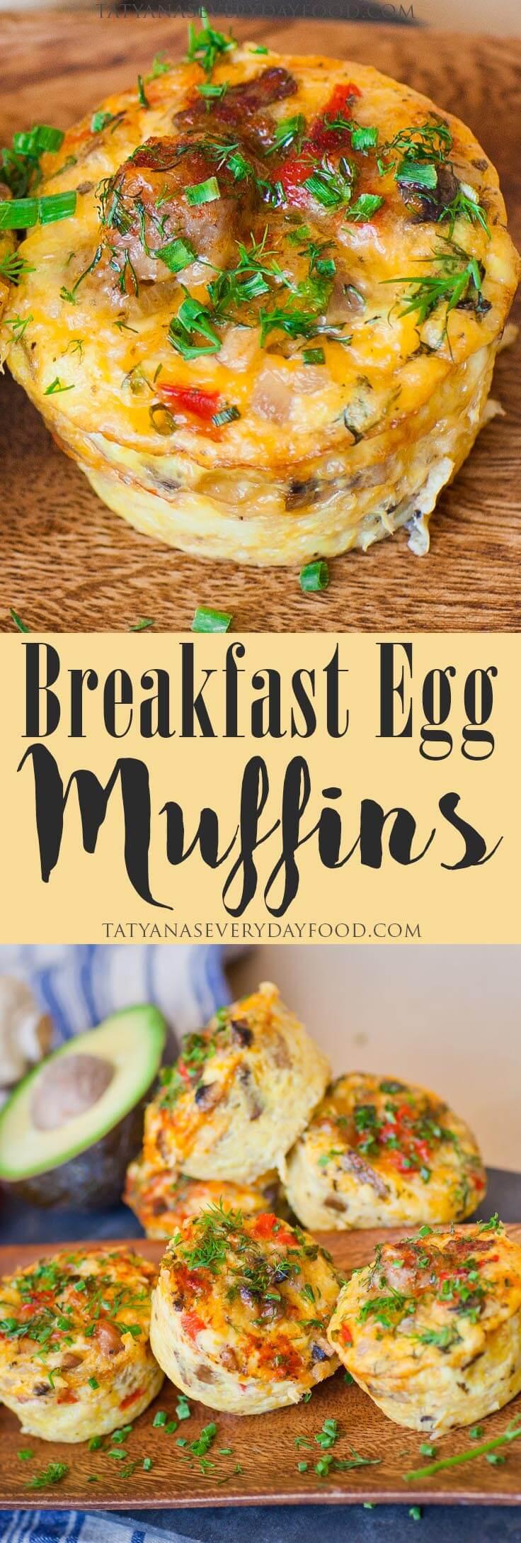 Easy Breakfast Egg & Sausage Muffins