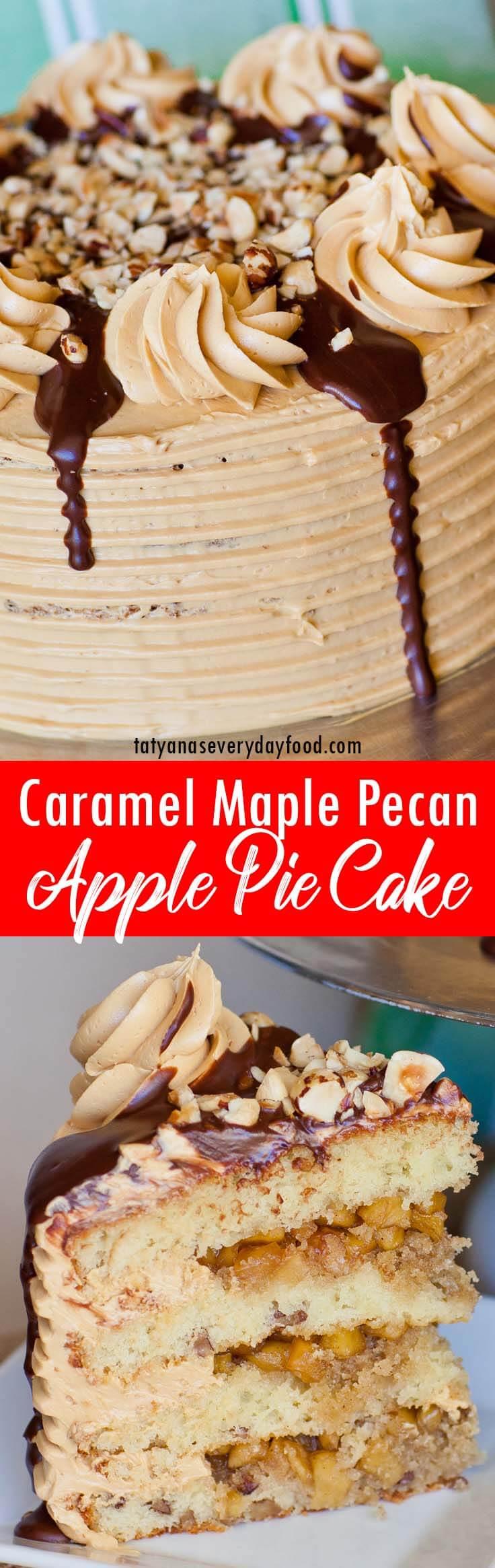 Apple Pie Maple Pecan Cake video recipe