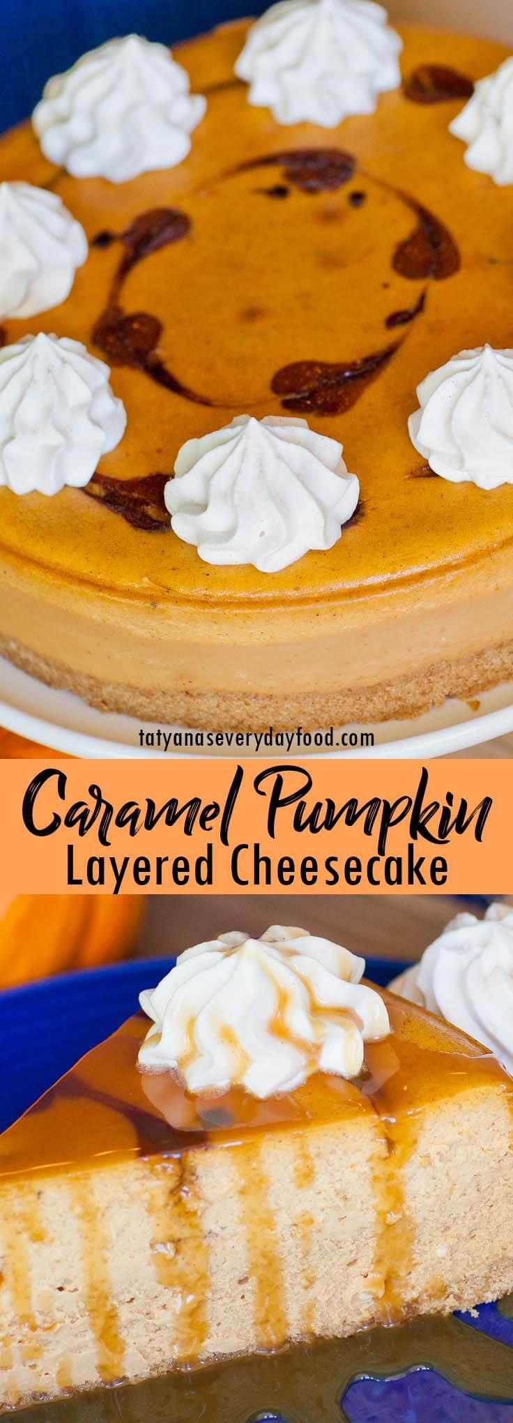 Caramel Pumpkin Cheesecake video recipe