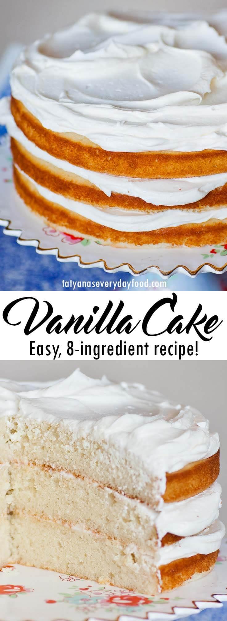 Easy Vanilla Cake Recipe video recipe