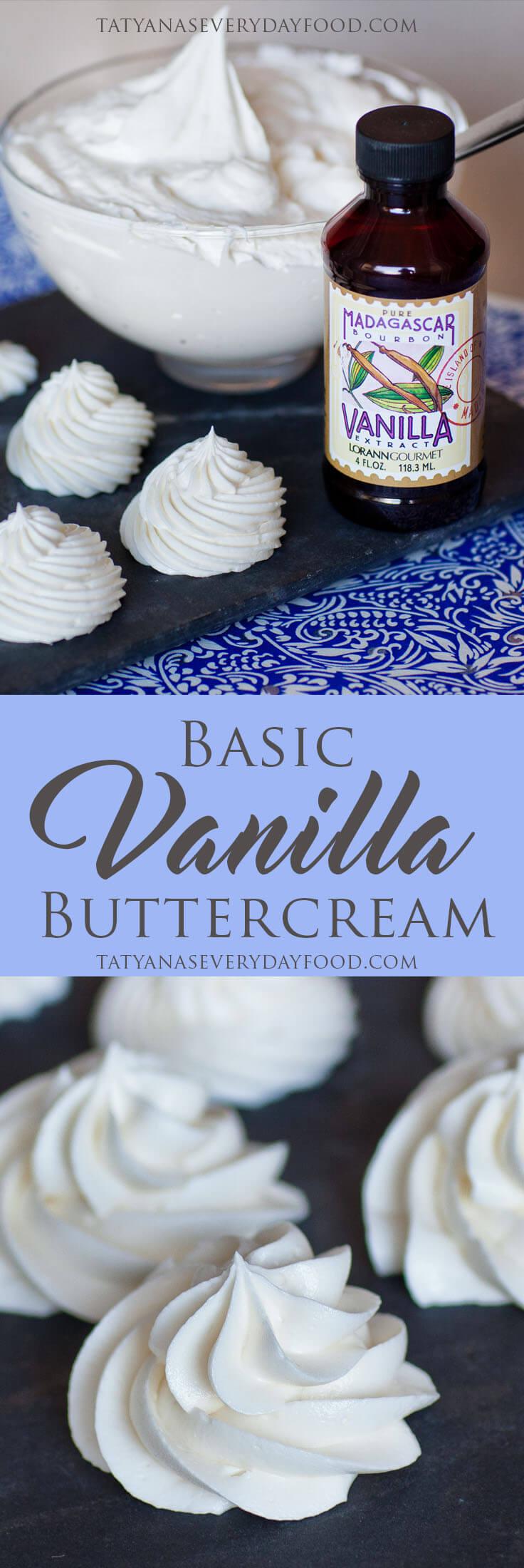 Basic Vanilla Buttercream Recipe with video