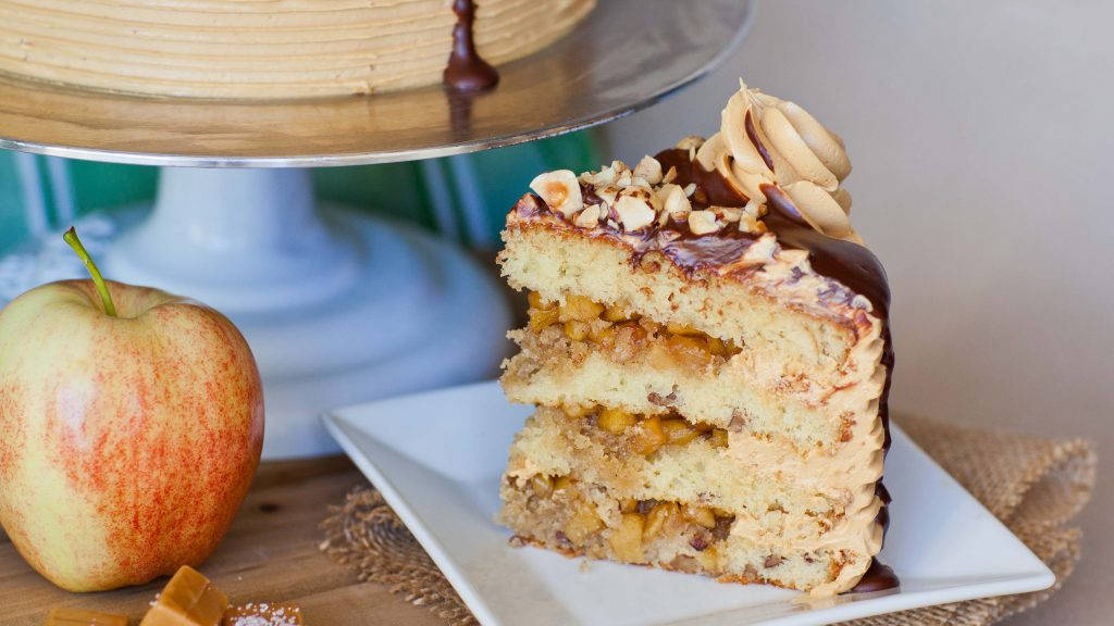 Apple Pie Maple Pecan Cake