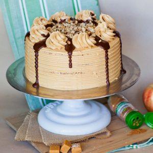 Apple Pie Maple Pecan Cake