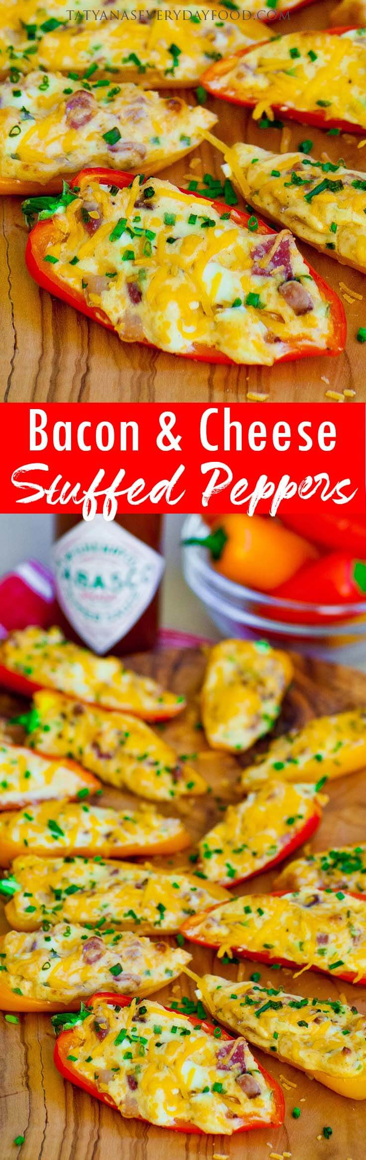 Bacon & Cheese Stuffed Peppers