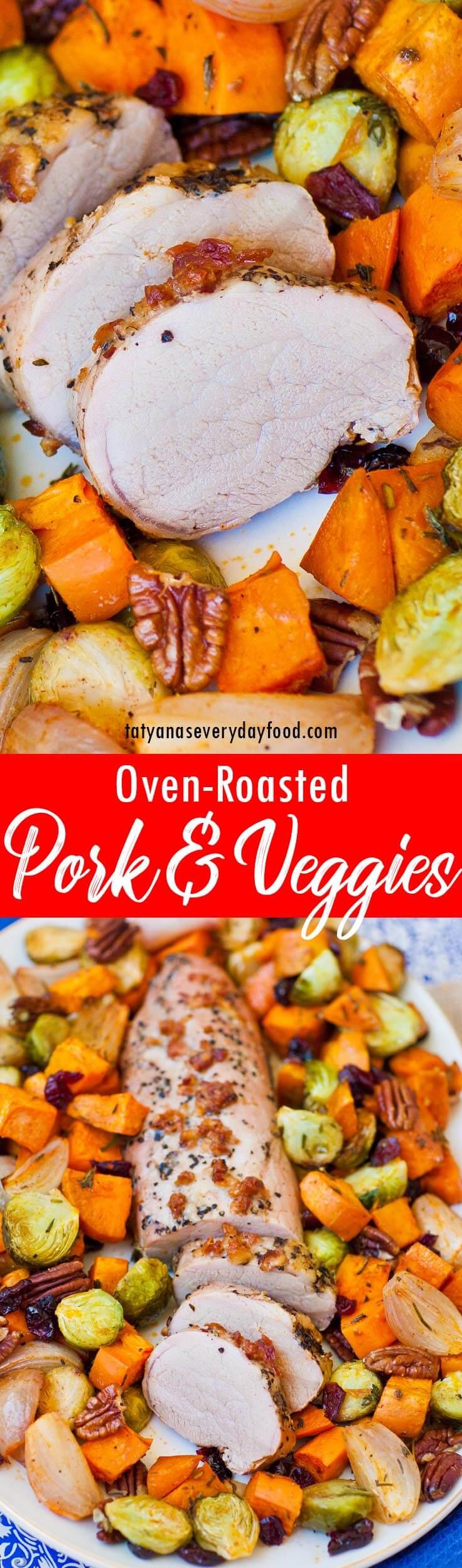 Oven-Roasted Pork with Veggies recipe