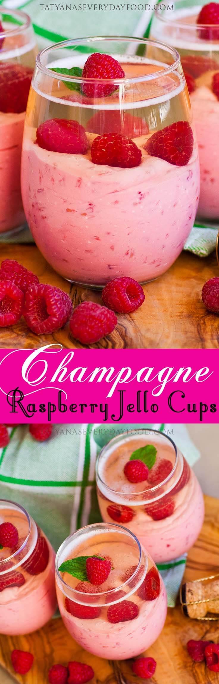 Raspberry Mousse Jello Cups video recipe