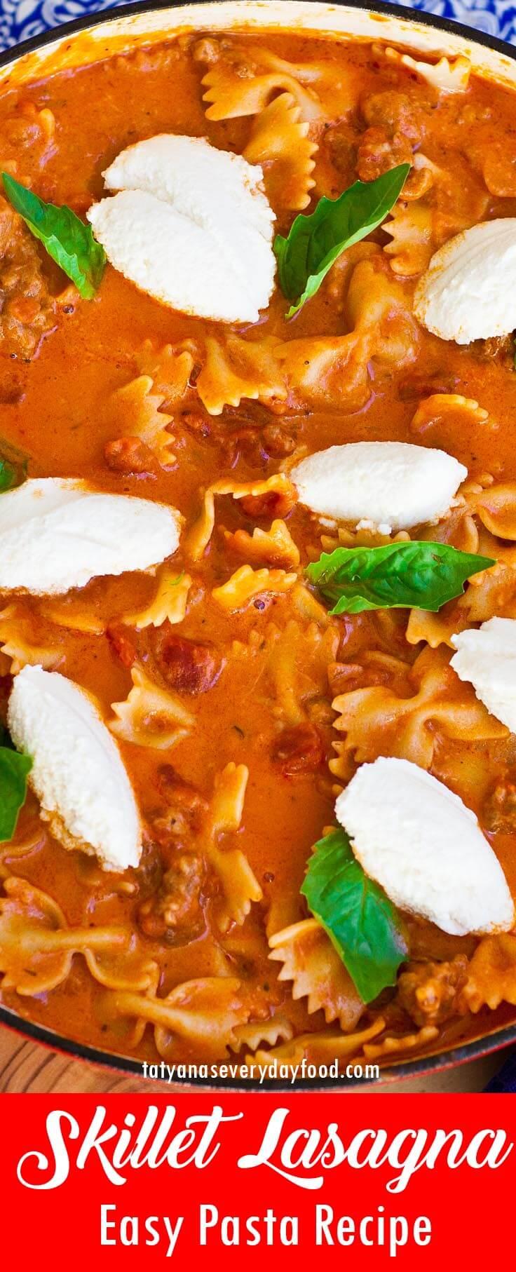 Easy Skillet Lasagna video recipe