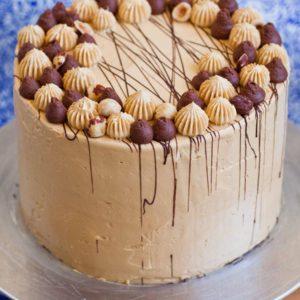 Kyiv Torte Hazelnut Cake with caramel buttercream