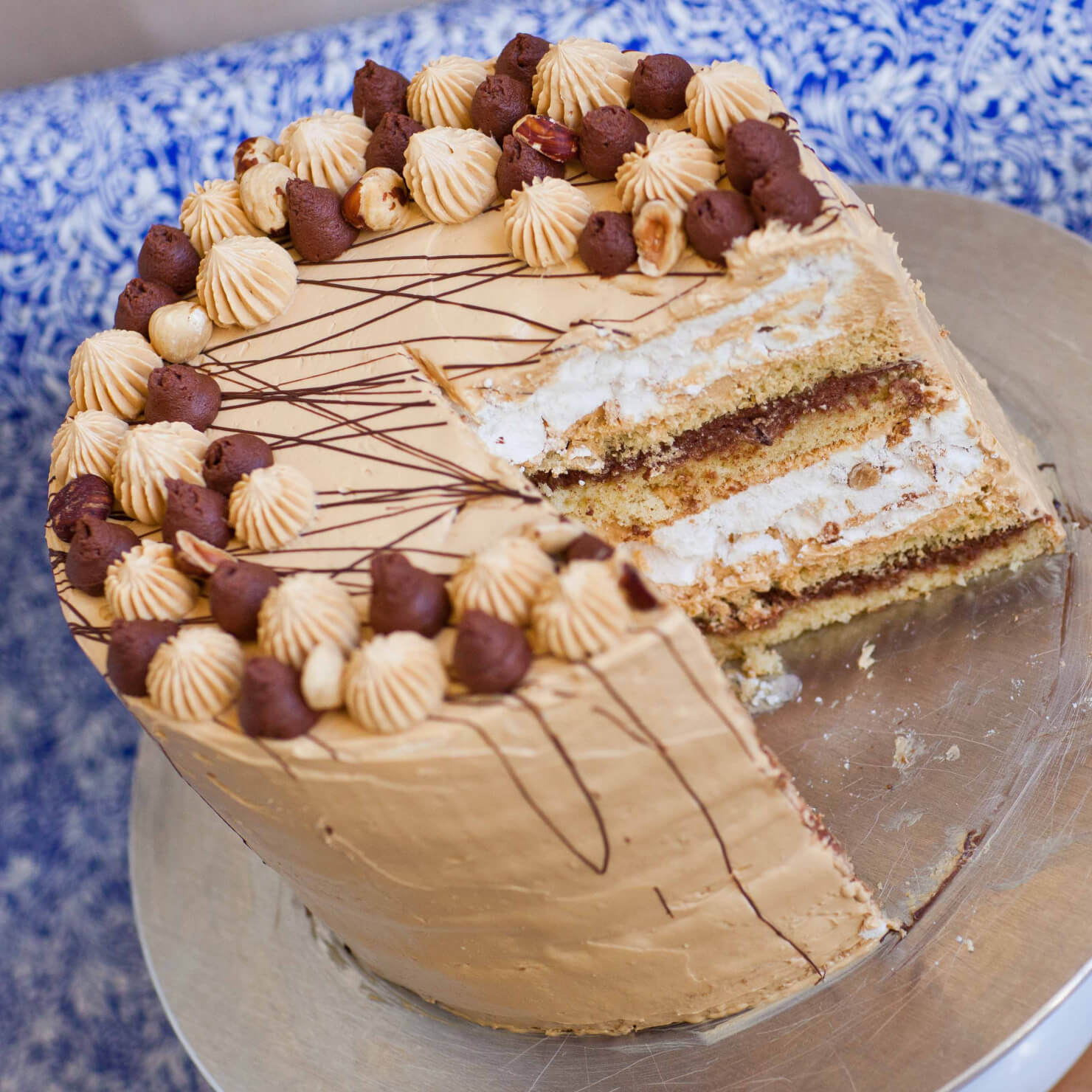 Sponge And Meringue Layer Cake