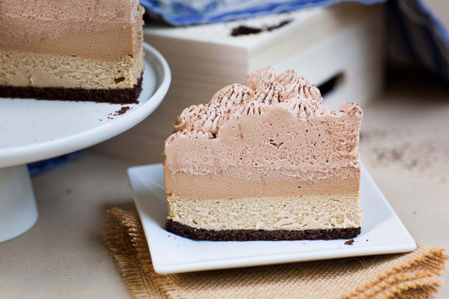 Triple Coffee Cheesecake